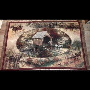 Thomas Kincade throw blanket